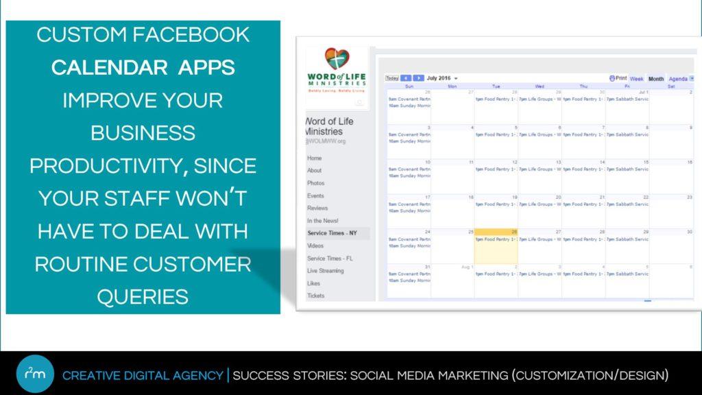 facebook calendar apps
